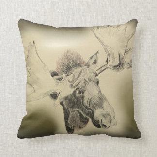 Moose Head Sketch Pillow