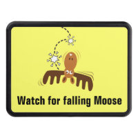 Moose Head_Watch for falling Moose! Trailer Hitch Cover
