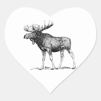Moose Heart Sticker