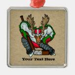 Moose Hockey Christmas Ornaments