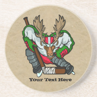 Moose Hockey Coasters