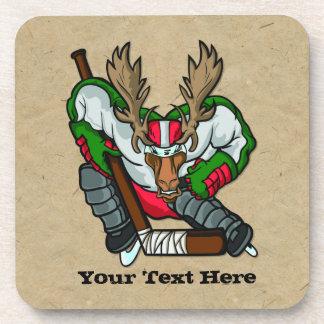 Moose Hockey Drink Coasters