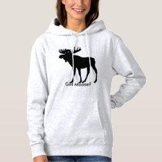 Moose Hoodie at Zazzle