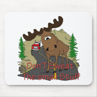 Moose humor mouse pad