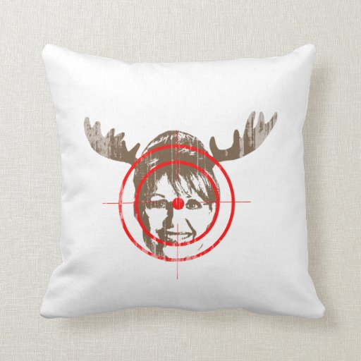 MOOSE HUNTING Faded.png Throw Pillow