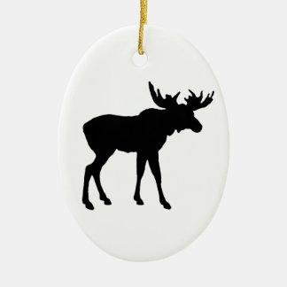 Moose Icon Ceramic Ornament