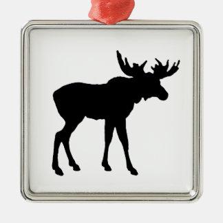 Moose Icon Metal Ornament