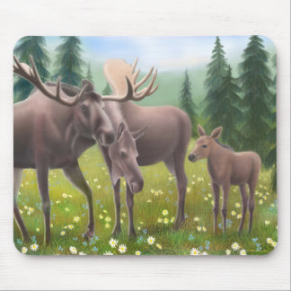 Moose in a Northern Forest Mousepad
