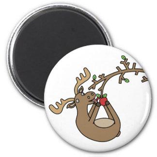 Moose in Apple Tree Magnet