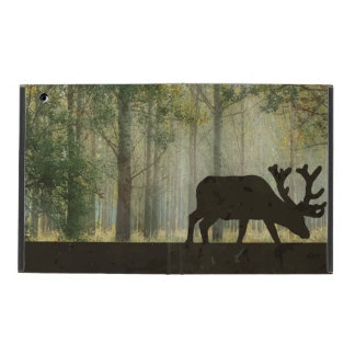 Moose in Forest Illustration iPad Cover