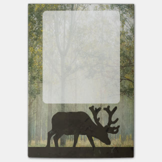 Moose in Forest Illustration Post-it Notes