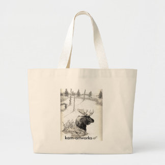 Moose in pond Bag