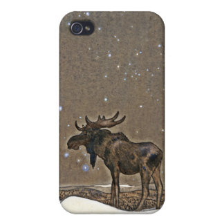 Moose in Snow Cases For iPhone 4