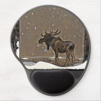 Moose in Snow Gel Mouse Pad
