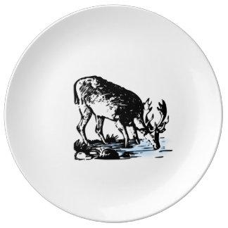 Moose in Stream Plate