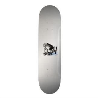 Moose in Stream Skateboard Deck