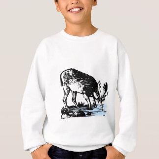 Moose in Stream Sweatshirt
