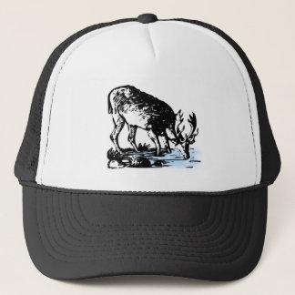 Moose in Stream Trucker Hat