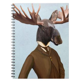 Moose In Suit Portrait Notebook