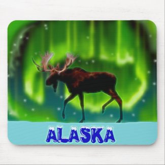 Moose In The Light Mousepads