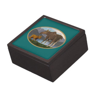 Moose in the Meadow Gift Box