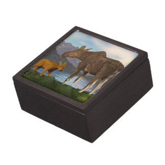 Moose in the Meadow Jewelry Box