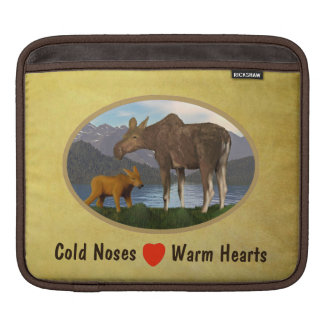Moose in the Meadow Sleeve For iPads