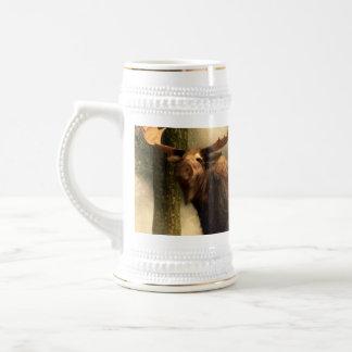 Moose in the Mist Beer Stein