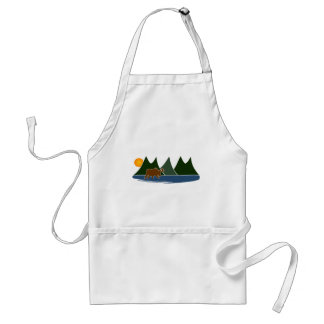 Moose in the Mountains Adult Apron