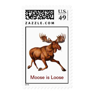 Moose is Loose - POSTAGE STAMPS
