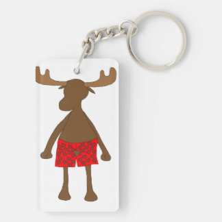 Moose Love Keychain