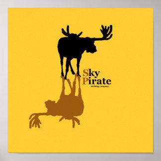 """""""Moose Made Me"""" Printed Artwork Print"""