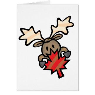 Moose & Maple Leaf Card
