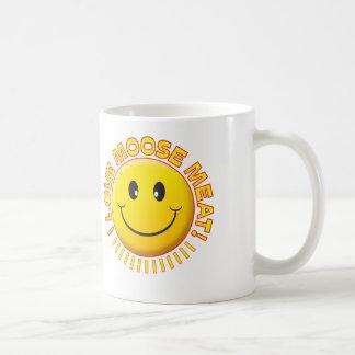 Moose Meat Smile Classic White Coffee Mug