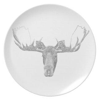 Moose Melamine Plate