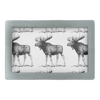 moose mess rectangular belt buckle