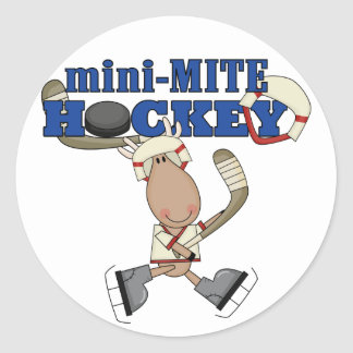 Moose Mini Mite Hockey Tshirts and Gifts Classic Round Sticker
