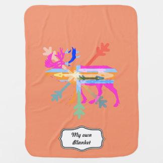 Moose modern stroller blanket