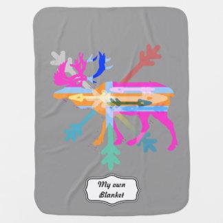 Moose modern swaddle blanket