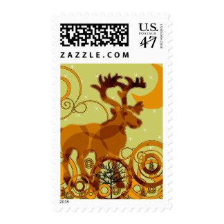 Moose Moon Stamp