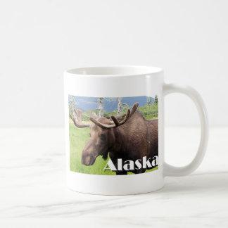 Moose near Anchorage, Alaska, USA (caption) Mug