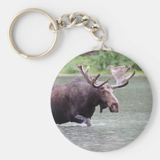 Moose on a Mission Keychain