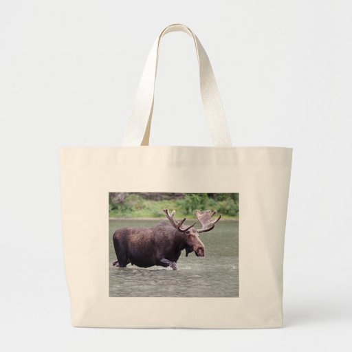 Moose on a Mission Tote Bags