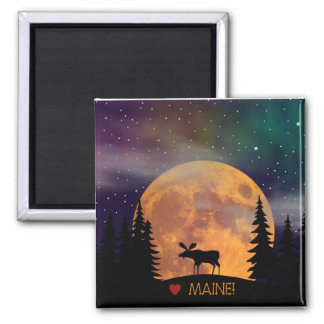 Moose on the Loose 2 Inch Square Magnet