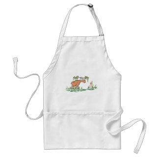 Moose on the loose adult apron