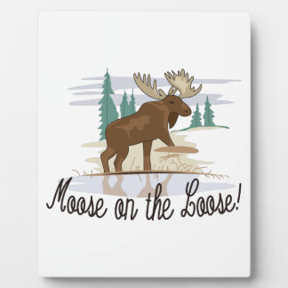 Moose on the Loose! Plaque
