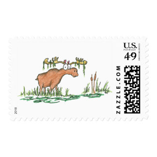 Moose on the loose stamps