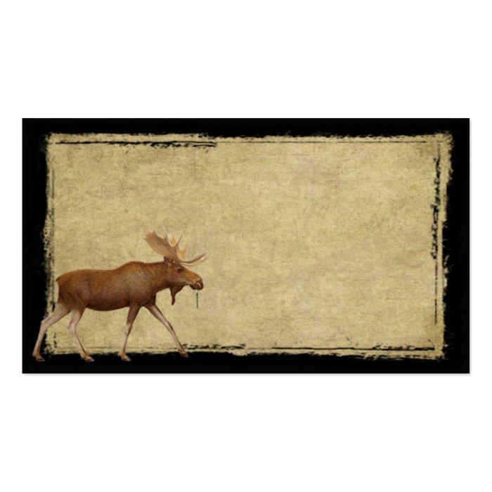 Moose On The Loose- Prim Biz Cards