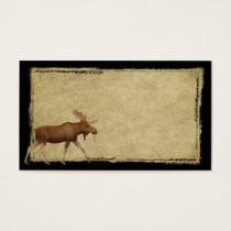 Moose On The Loose- Prim Biz Cards
