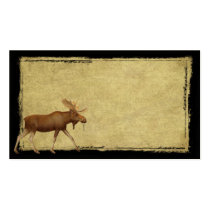 Moose On The Loose- Prim Biz Cards Double-Sided Standard Business Cards (Pack Of 100)